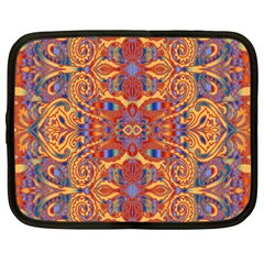 Oriental Watercolor Ornaments Kaleidoscope Mosaic Netbook Case (Large)