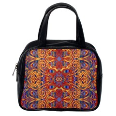 Oriental Watercolor Ornaments Kaleidoscope Mosaic Classic Handbags (One Side)