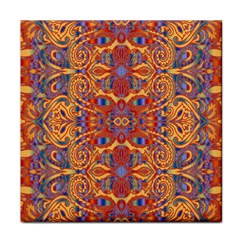 Oriental Watercolor Ornaments Kaleidoscope Mosaic Face Towel