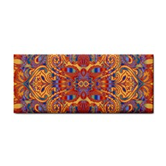 Oriental Watercolor Ornaments Kaleidoscope Mosaic Hand Towel