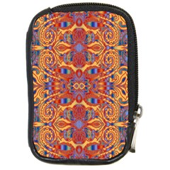 Oriental Watercolor Ornaments Kaleidoscope Mosaic Compact Camera Cases by EDDArt