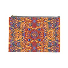 Oriental Watercolor Ornaments Kaleidoscope Mosaic Cosmetic Bag (large)  by EDDArt