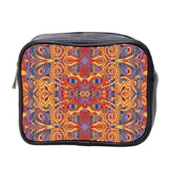 Oriental Watercolor Ornaments Kaleidoscope Mosaic Mini Toiletries Bag 2-Side
