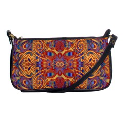 Oriental Watercolor Ornaments Kaleidoscope Mosaic Shoulder Clutch Bags