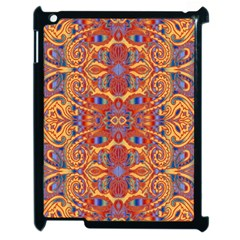 Oriental Watercolor Ornaments Kaleidoscope Mosaic Apple Ipad 2 Case (black) by EDDArt