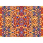Oriental Watercolor Ornaments Kaleidoscope Mosaic Circle Bottom 3D Greeting Card (7x5) Front