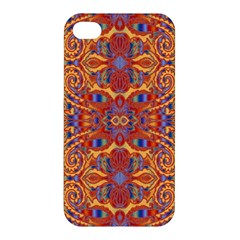 Oriental Watercolor Ornaments Kaleidoscope Mosaic Apple Iphone 4/4s Hardshell Case by EDDArt