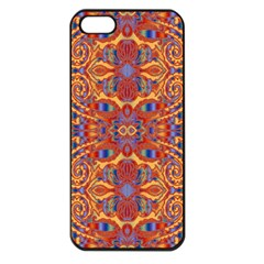 Oriental Watercolor Ornaments Kaleidoscope Mosaic Apple Iphone 5 Seamless Case (black) by EDDArt