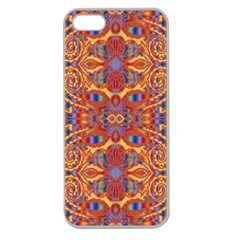 Oriental Watercolor Ornaments Kaleidoscope Mosaic Apple Seamless Iphone 5 Case (clear) by EDDArt