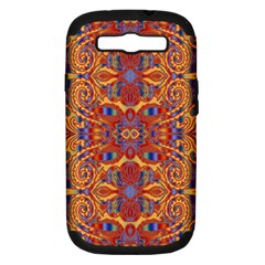 Oriental Watercolor Ornaments Kaleidoscope Mosaic Samsung Galaxy S III Hardshell Case (PC+Silicone)