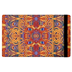 Oriental Watercolor Ornaments Kaleidoscope Mosaic Apple Ipad 3/4 Flip Case by EDDArt