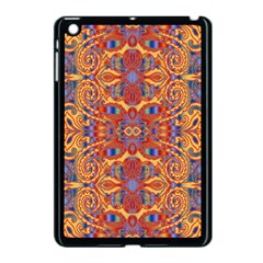 Oriental Watercolor Ornaments Kaleidoscope Mosaic Apple Ipad Mini Case (black) by EDDArt