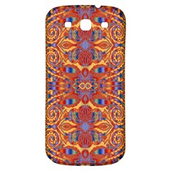 Oriental Watercolor Ornaments Kaleidoscope Mosaic Samsung Galaxy S3 S Iii Classic Hardshell Back Case by EDDArt