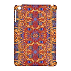Oriental Watercolor Ornaments Kaleidoscope Mosaic Apple Ipad Mini Hardshell Case (compatible With Smart Cover) by EDDArt