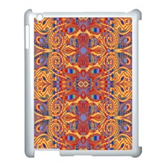 Oriental Watercolor Ornaments Kaleidoscope Mosaic Apple Ipad 3/4 Case (white) by EDDArt