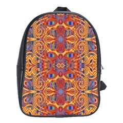 Oriental Watercolor Ornaments Kaleidoscope Mosaic School Bags (XL)