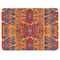 Oriental Watercolor Ornaments Kaleidoscope Mosaic Samsung Galaxy Tab 7  P1000 Flip Case by EDDArt