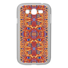 Oriental Watercolor Ornaments Kaleidoscope Mosaic Samsung Galaxy Grand Duos I9082 Case (white) by EDDArt