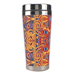 Oriental Watercolor Ornaments Kaleidoscope Mosaic Stainless Steel Travel Tumblers by EDDArt