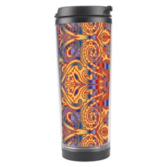 Oriental Watercolor Ornaments Kaleidoscope Mosaic Travel Tumbler by EDDArt