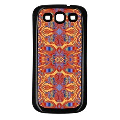 Oriental Watercolor Ornaments Kaleidoscope Mosaic Samsung Galaxy S3 Back Case (black) by EDDArt