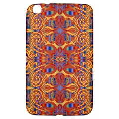 Oriental Watercolor Ornaments Kaleidoscope Mosaic Samsung Galaxy Tab 3 (8 ) T3100 Hardshell Case  by EDDArt