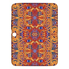 Oriental Watercolor Ornaments Kaleidoscope Mosaic Samsung Galaxy Tab 3 (10 1 ) P5200 Hardshell Case  by EDDArt