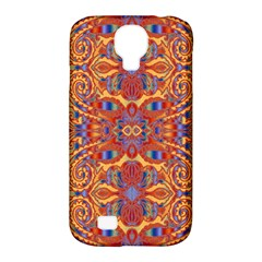 Oriental Watercolor Ornaments Kaleidoscope Mosaic Samsung Galaxy S4 Classic Hardshell Case (pc+silicone) by EDDArt