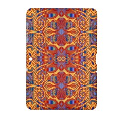Oriental Watercolor Ornaments Kaleidoscope Mosaic Samsung Galaxy Tab 2 (10 1 ) P5100 Hardshell Case  by EDDArt