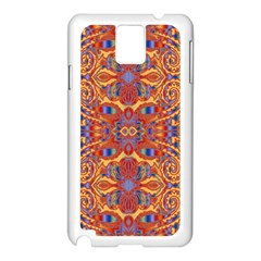 Oriental Watercolor Ornaments Kaleidoscope Mosaic Samsung Galaxy Note 3 N9005 Case (White)