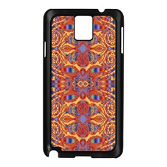 Oriental Watercolor Ornaments Kaleidoscope Mosaic Samsung Galaxy Note 3 N9005 Case (Black)