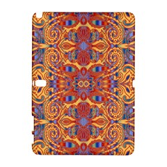 Oriental Watercolor Ornaments Kaleidoscope Mosaic Samsung Galaxy Note 10 1 (p600) Hardshell Case by EDDArt