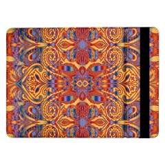 Oriental Watercolor Ornaments Kaleidoscope Mosaic Samsung Galaxy Tab Pro 12 2  Flip Case by EDDArt