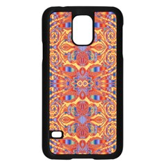 Oriental Watercolor Ornaments Kaleidoscope Mosaic Samsung Galaxy S5 Case (Black)