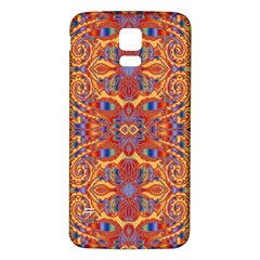 Oriental Watercolor Ornaments Kaleidoscope Mosaic Samsung Galaxy S5 Back Case (White)