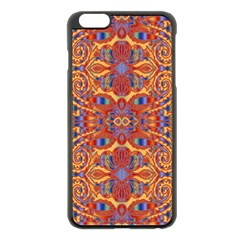 Oriental Watercolor Ornaments Kaleidoscope Mosaic Apple iPhone 6 Plus/6S Plus Black Enamel Case