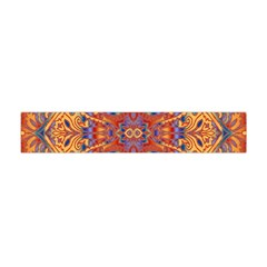 Oriental Watercolor Ornaments Kaleidoscope Mosaic Flano Scarf (Mini)