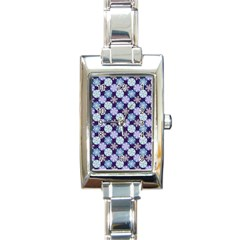 Snowflakes Pattern Rectangle Italian Charm Watch