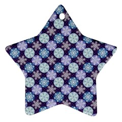 Snowflakes Pattern Ornament (Star)