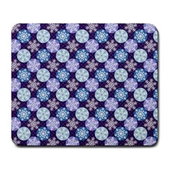 Snowflakes Pattern Large Mousepads
