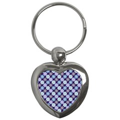 Snowflakes Pattern Key Chains (heart)  by DanaeStudio