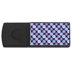 Snowflakes Pattern Usb Flash Drive Rectangular (4 Gb)  by DanaeStudio