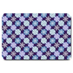 Snowflakes Pattern Large Doormat  by DanaeStudio