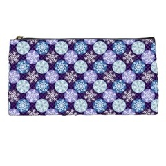 Snowflakes Pattern Pencil Cases by DanaeStudio