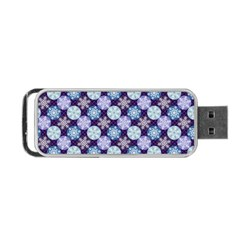 Snowflakes Pattern Portable Usb Flash (two Sides) by DanaeStudio