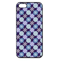 Snowflakes Pattern Apple iPhone 5 Seamless Case (Black)