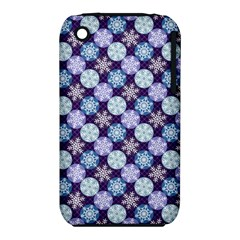 Snowflakes Pattern Apple iPhone 3G/3GS Hardshell Case (PC+Silicone)