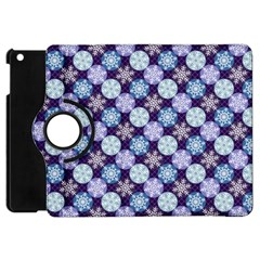 Snowflakes Pattern Apple Ipad Mini Flip 360 Case by DanaeStudio