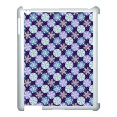 Snowflakes Pattern Apple Ipad 3/4 Case (white) by DanaeStudio