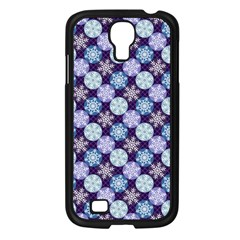 Snowflakes Pattern Samsung Galaxy S4 I9500/ I9505 Case (Black)